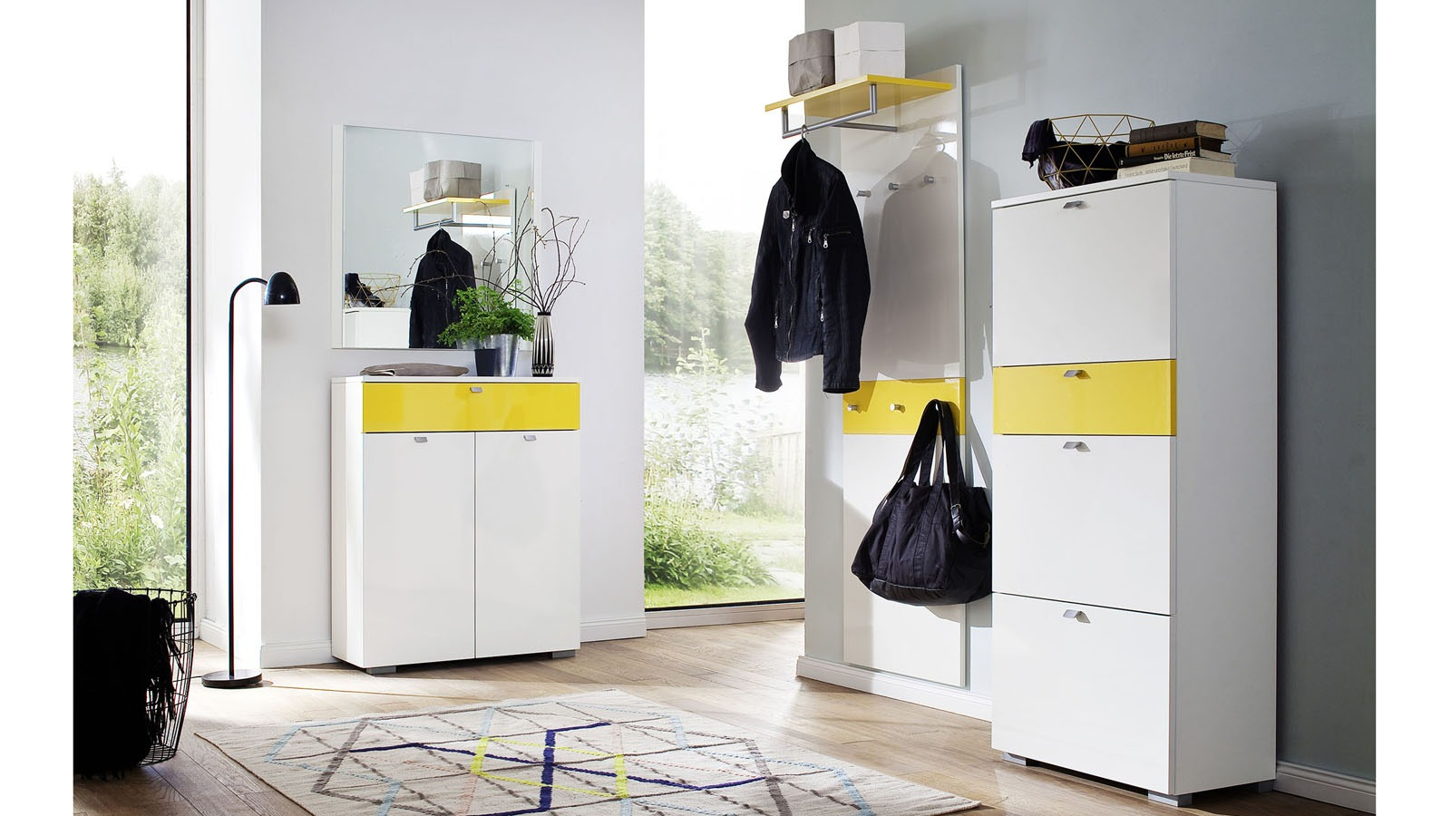 Garderobe holz wei beautiful weiss prev with garderobe for Garderobe grau holz